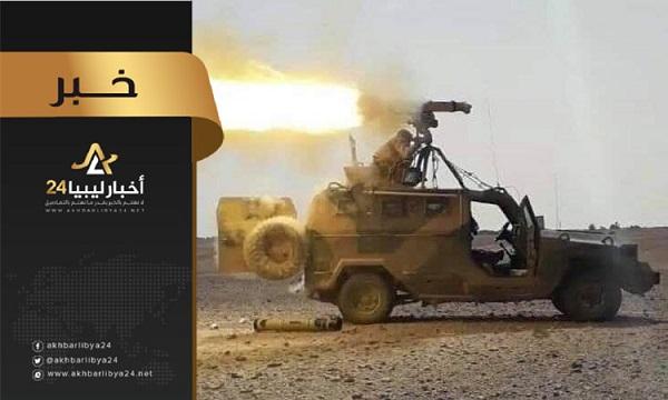 صورة الكتيبة 155 تؤكد إصابة أفراد وإعطاب آلية تابعة لقوات الوفاق في عين زارة