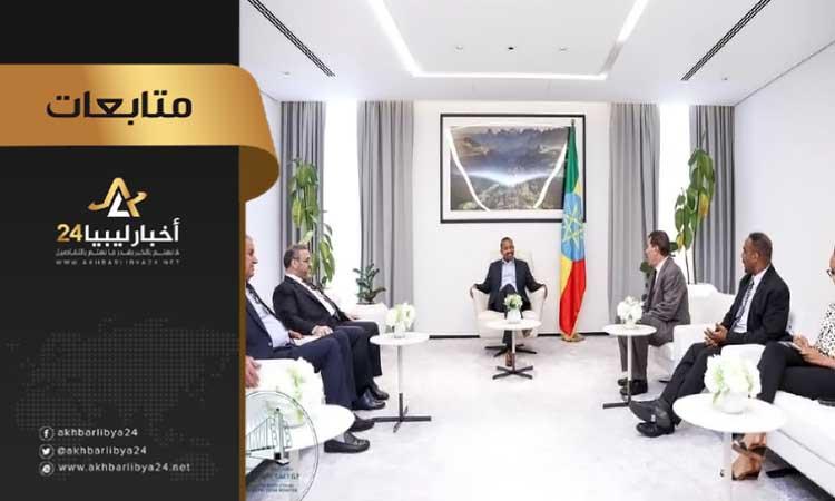 صورة خلال زيارته إثيوبيا.. المشري يستجدي من أجل تدخل الاتحاد الأفريقي لحل الأزمة الليبية