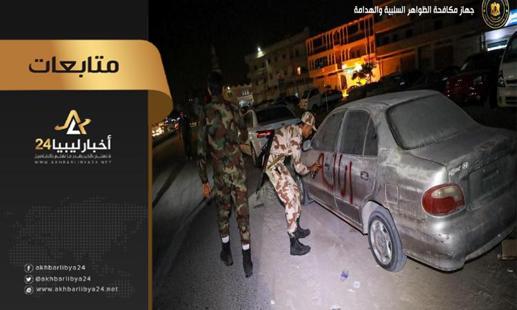 صورة استمرار تنفيذ إزالة العشوائيات في بنغازي