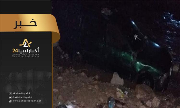 """صورة وفاة امرأة وطفليها وفقدان رضيعة نتيجة السيول في منطقة """"أم الرزم"""" شرق درنة"""