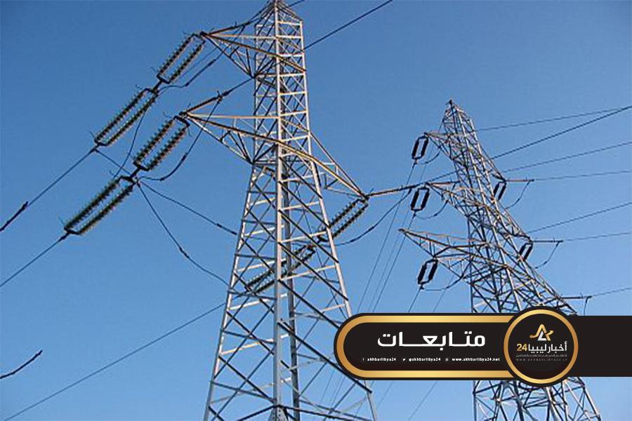 صورة انقطاع الكهرباء عن أجزاء بطرابلس بسبب إصابة خط نقل الطاقة بالقره بوللي