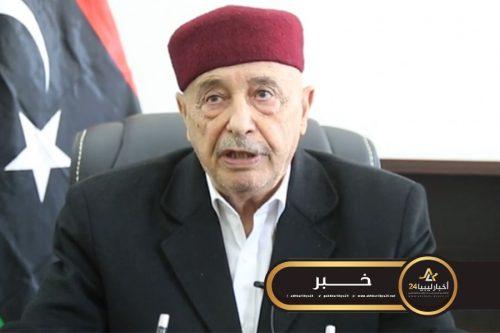 صورة صالح يؤكد مشاركة مجلس النواب في المسار السياسي الذي تعمل عليه الأمم المتحدة والمجتمع الدولي