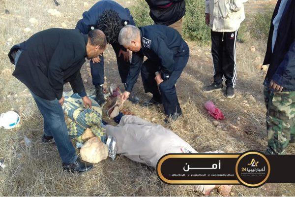 صورة العثور على جثة مكبلة اليدين قرب مدينة الأبيار