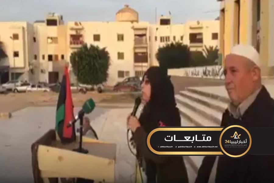 """صورة لأول مرة مصراتة ضد الوفاق .. وسيدة تهاجم """"السراج"""" و""""باشاغا"""" وتصفهم بالخيانة والعمالة"""