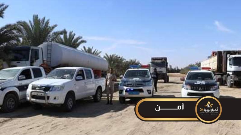 صورة القبض على عصابة لتهريب الوقود بجالو