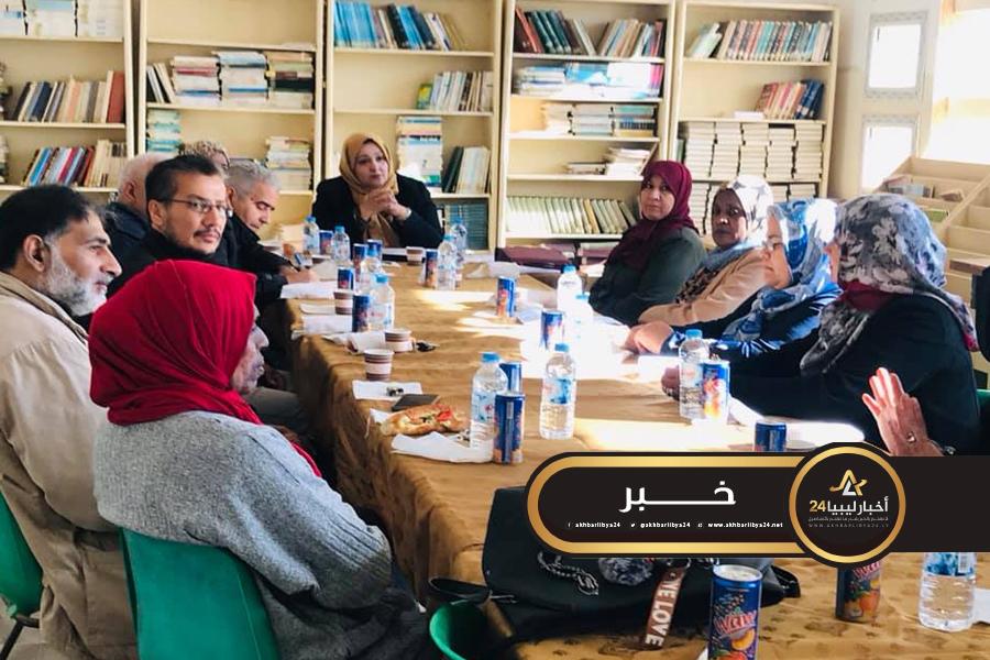 صورة انطلاق العمل بمكتب الخدمة الاجتماعية والنفسية في بنغازي