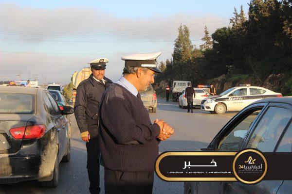 صورة مرور شحات يطلق حملة لاستهداف المركبات دون لوحات معدنية