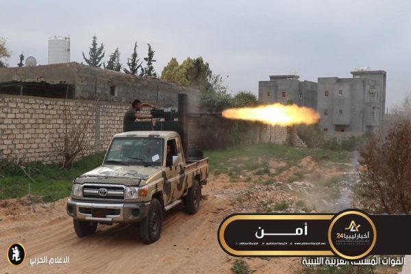 صورة إصابة أحد عناصر شورى بنغازي المتطرفة في معارك طرابلس