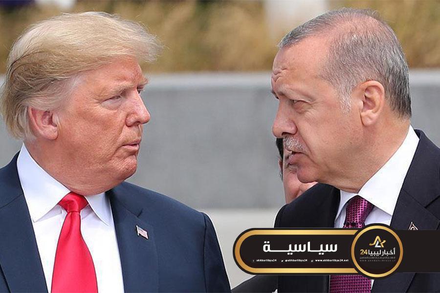 صورة بسبب مخاطر تفشي وباء كورونا.. ترامب وأردوغان يشددان على ضرورة وقف إطلاق النار في ليبيا وسوريا