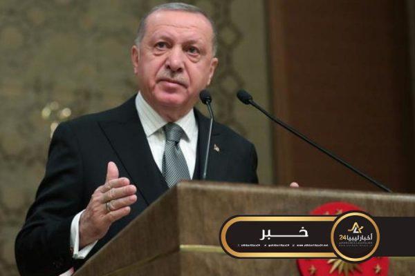 صورة أردوغان: تركيا أرسلت 35 جنديًا إلى ليبيا دعمًا لحكومة الوفاق
