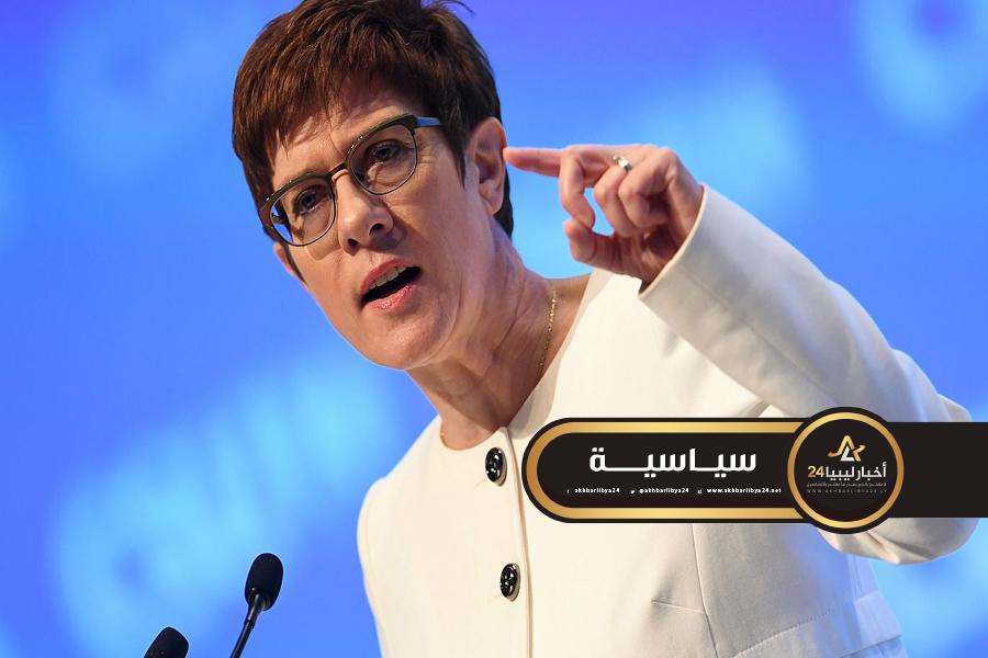 صورة وزيرة الدفاع الألمانية: الالتزام بهدنة دائمة شرط أساسي قبل تدخل الجيش الألماني في ليبيا