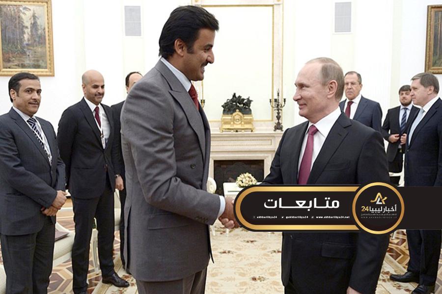 صورة مُتطرقين للمبادرة الروسية.. بوتين وتميم يؤكدان على ضرورة تسوية العملية في ليبيا