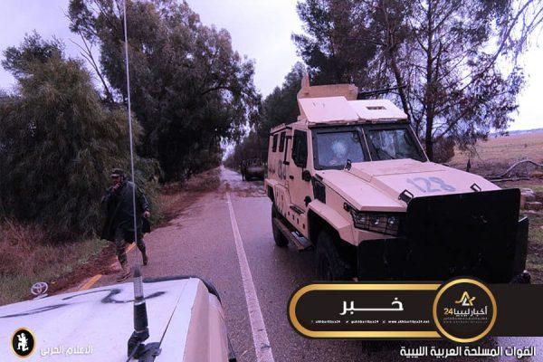 صورة الخرطوش: الوحدات العسكرية في محاور طرابلس تحافظ على جميع تمركزاتها