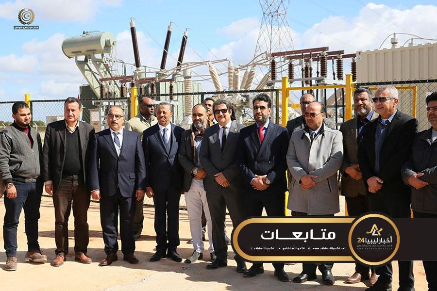صورة الثني يفتتح محطة كهرباء سيدي منصور في بنغازي
