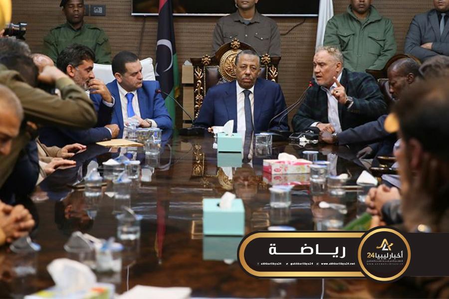 صورة الثني يعلن تكفل الحكومة الليبية بمشاركة النصر في الكونفدرالية