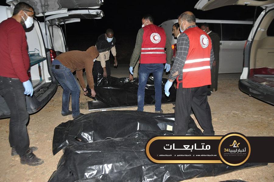 صورة تبادل جثامين بين مصراتة والمنطقة الشرقية بوساطة من بني وليد