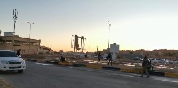 صورة تواصل حملة تنظيف مدخل مدينة سبها