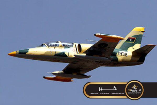 صورة السلاح الجوي بالقوات المسلحة يستهدف تمركزات قوات الوفاق في محيط بوقرين
