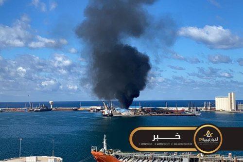 صورة داعية لوقف التصعيد..البعثة الأممية تندد بقصف ميناء طرابلس