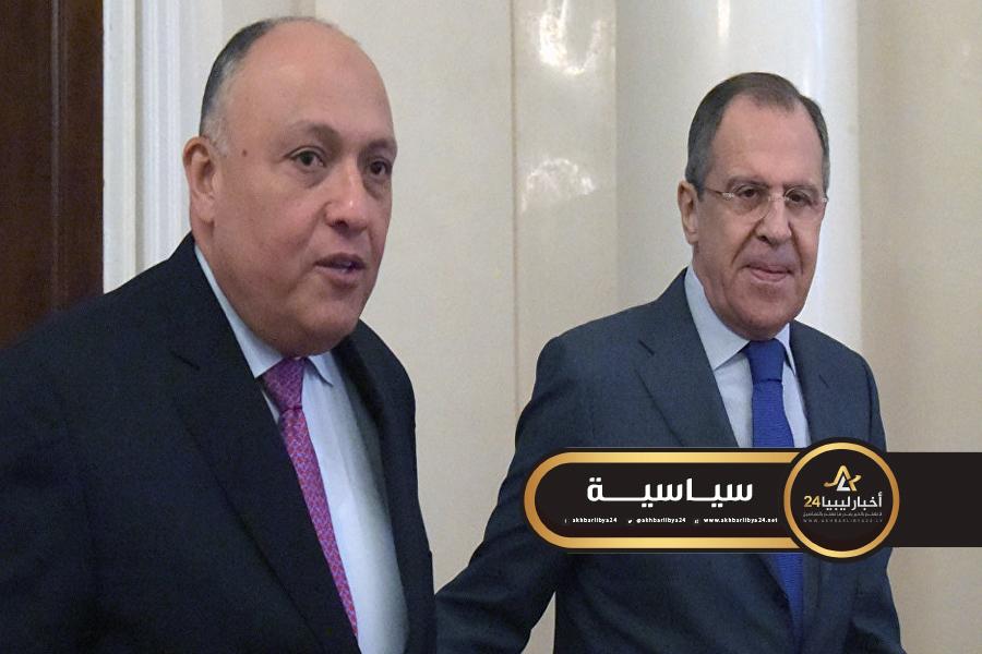 صورة مؤكدين أهمية الدفع بحلول سياسية شاملة.. شكري ولافروف يبحثان مستجدات الأوضاع في ليبيا