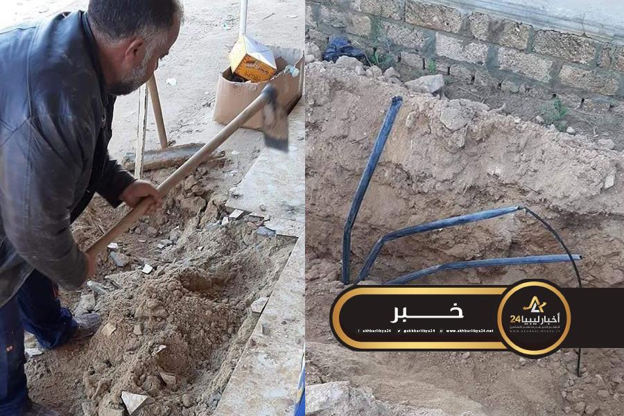 صورة ليست المرة الأولى .. مواطن يقطع خدمات الاتصالات بسبب حفر خط للمياه