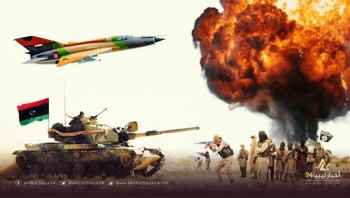 صورة مطاردتهم لن تتوقف..استهداف قادة إرهابيين في غارات جنوب سبها