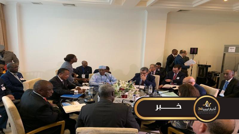 صورة مجموعة الاتصال التابعة للاتحاد الأفريقي تختم اجتماعا حول ليبيا