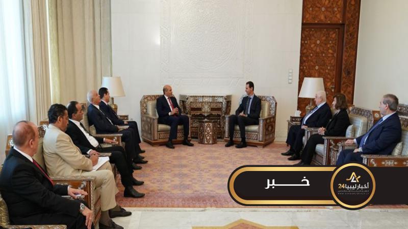 صورة تقارب ليبي سوري لمواجهة تركيا والأسد يستقبل وفدًا من الحكومة الليبية