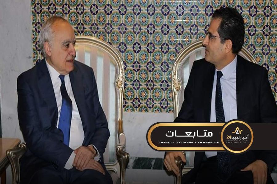 صورة سلامة يطلع وزير الخارجية التونسية على جهوده لتقريب الفرقاء الليبيين