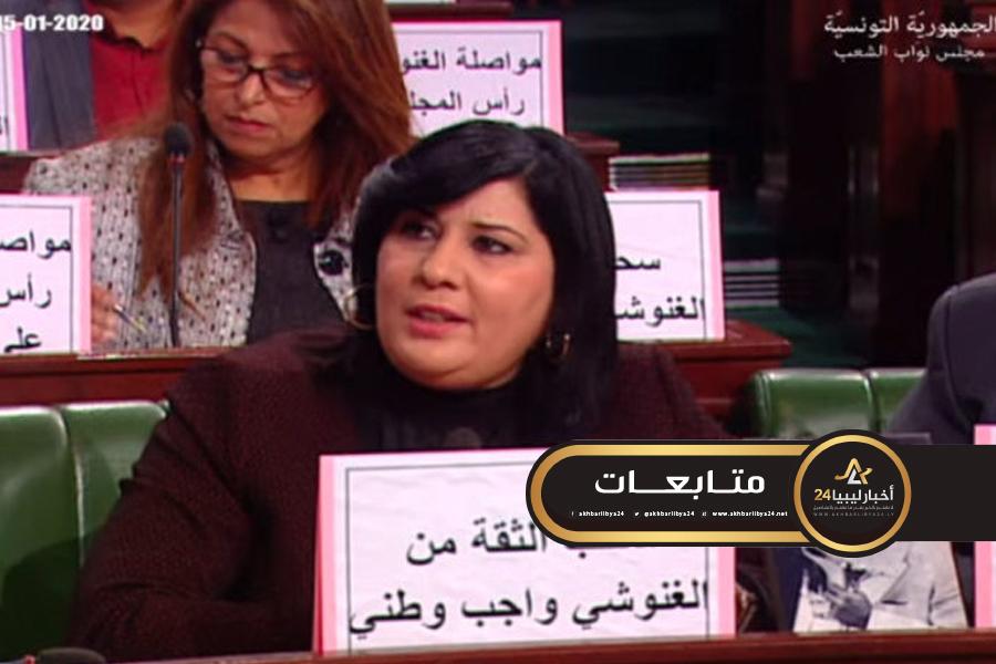 صورة نائبة تونسية: الإرهاب دخل البلاد مع الغنوشي والنهضة