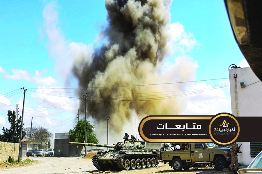 صورة مسؤول عسكري يؤكد القضاء على 14 شخص من مليشيا غنيوة الككلي