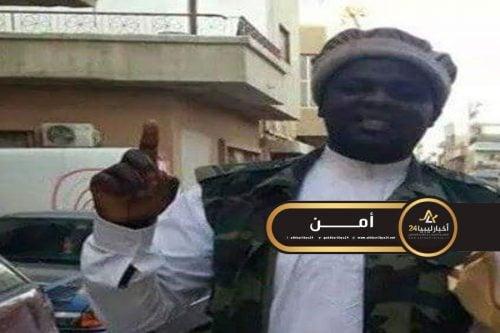 """صورة بايع داعش في 2014..مليشيا """"الردع"""" تفرج عن أحد إرهابيي بنغازي من سجونها"""