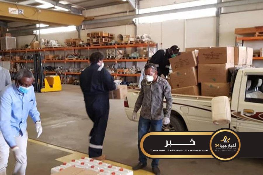 صورة مؤسسة النفط ترسل شحنة معدات طبية إلى بلديات الجنوب