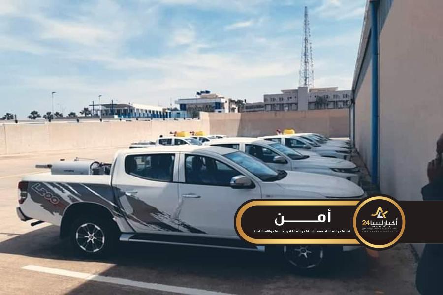 صورة عملية سطو في غريان على سيارات رش وتعقيم مخصصة لبلديات في الجنوب