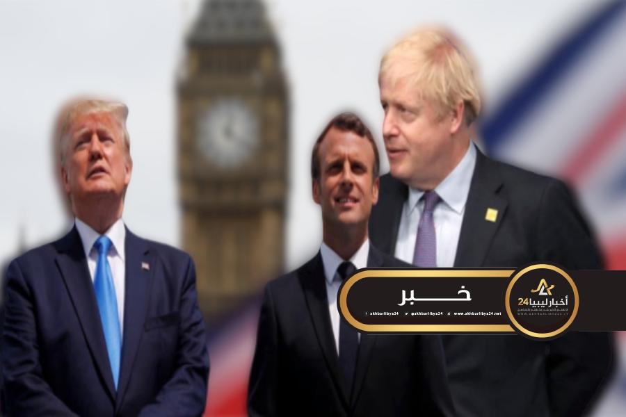 صورة رئيس الوزراء البريطاني بالعناية الفائقة بسبب كورونا والرئيسان الأمريكي والفرنسي يعربان عن دعمهما له