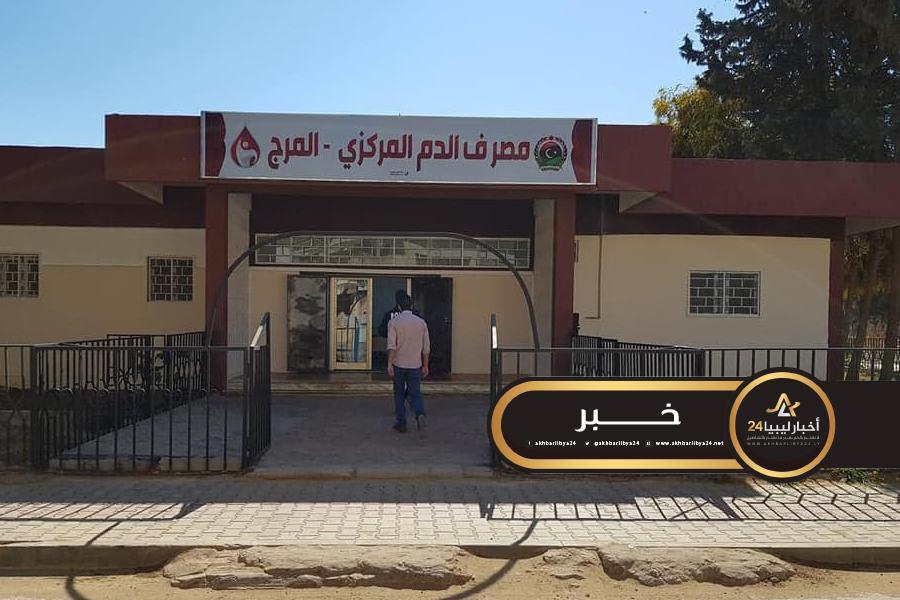 صورة إقبال كبير على التبرع بالدم في مدينة المرج