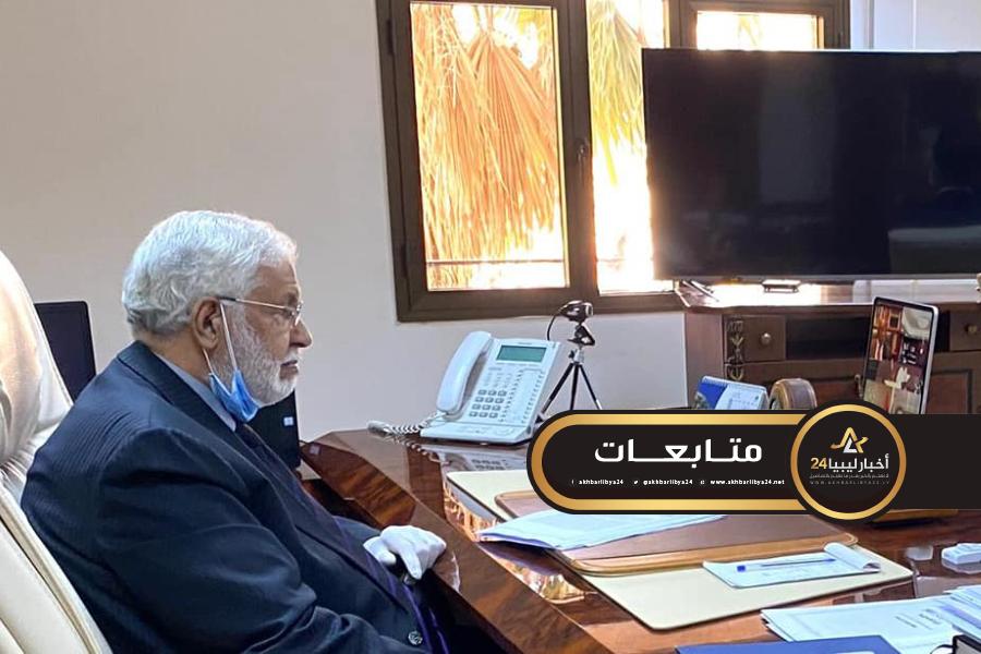 صورة سيّالة يشارك في اجتماع مجلس جامعة الدول العربية الافتراضي على المستوى الوزاري