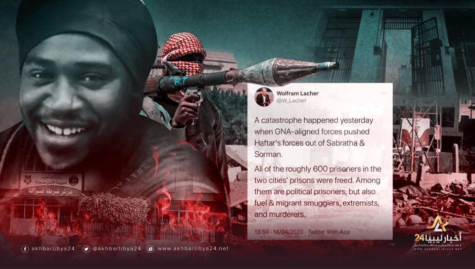 صورة ماعاد للمدافعين عن الدولة المدنية حجة..باحث ألماني: قوات الوفاق أفرجت عن 600 سجين بينهم إرهابيين و مهربي بشر