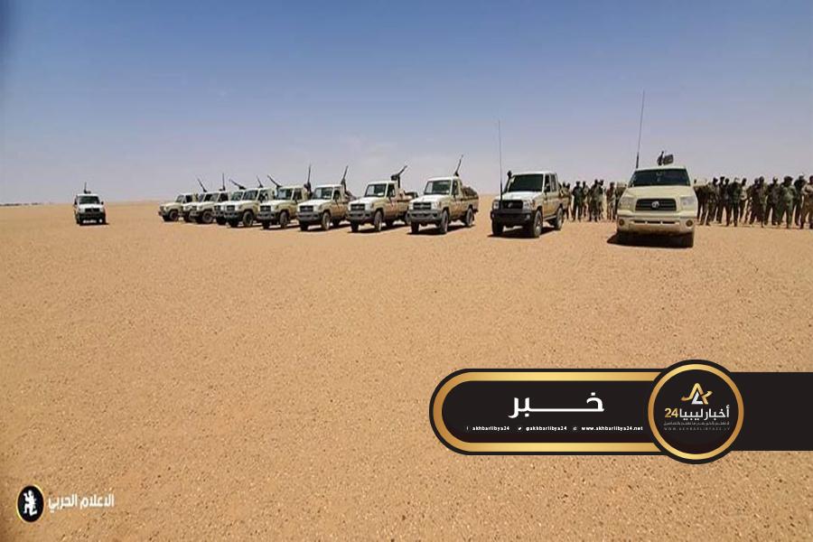 صورة لملاحقة المهربين..خروج دوريات القوات المُسلحة لحوض مرزق وأوباري