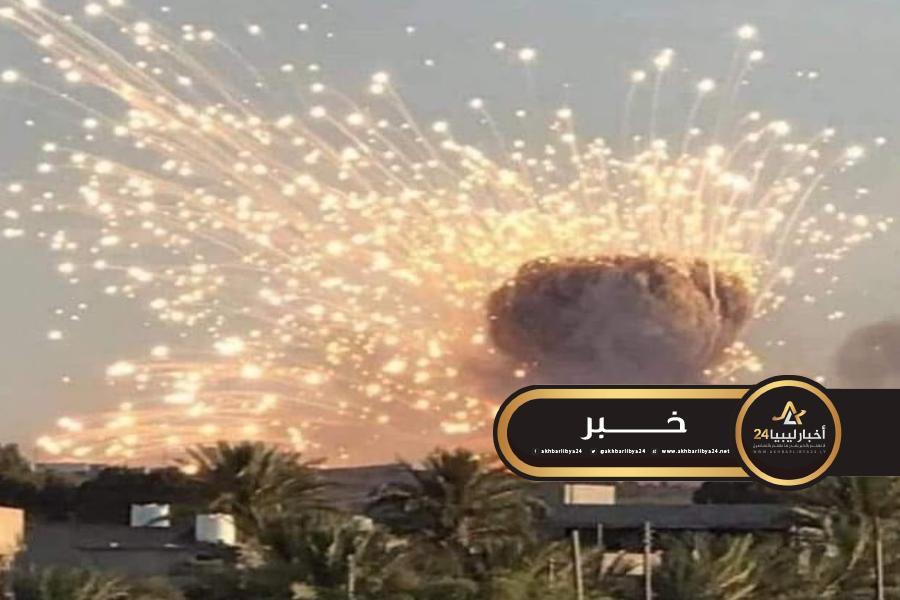 صورة تواصل غارات سلاح الجو على أهداف شرقي مصراتة