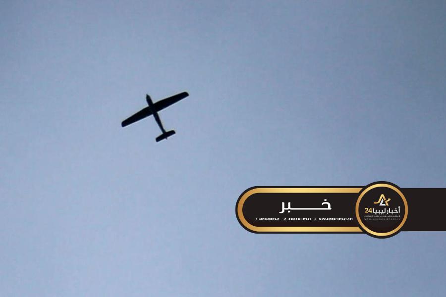 صورة إسقاط ثلاث طائرات تركية مسيرة في بني وليد
