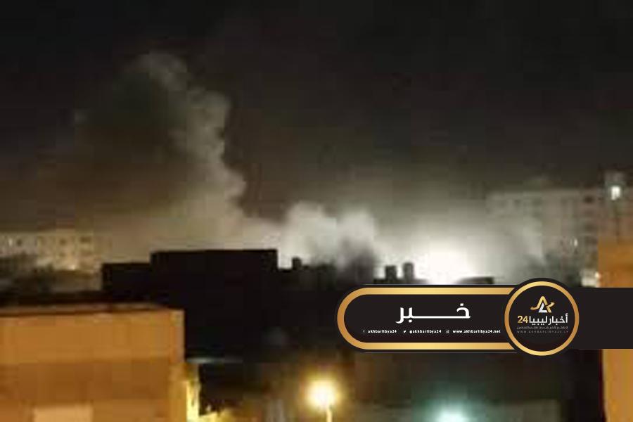 صورة غارات لسلاح الجو على تجمعات قوات الوفاق في القداحية..وإسقاط مسيرة تركية قرب بن وليد