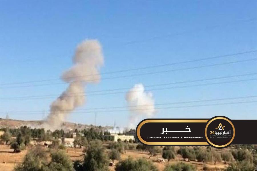 صورة سلاح الجو يشن غارات على تمركزات قوات الوفاق بين غريان والأصابعة