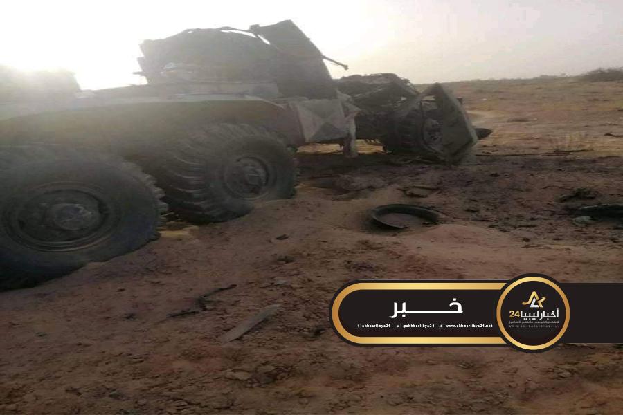 """صورة سلاح الجو يدمر عربة """"غراد"""" تابعة لقوات الوفاق في العقربية قرب الجميل"""