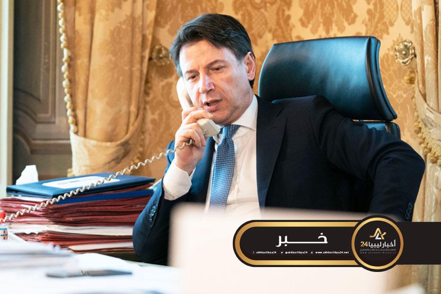 صورة خلال مكالمة هاتفية مع حفتر.. كونتي يجدد رفضه للحل العسكري في ليبيا