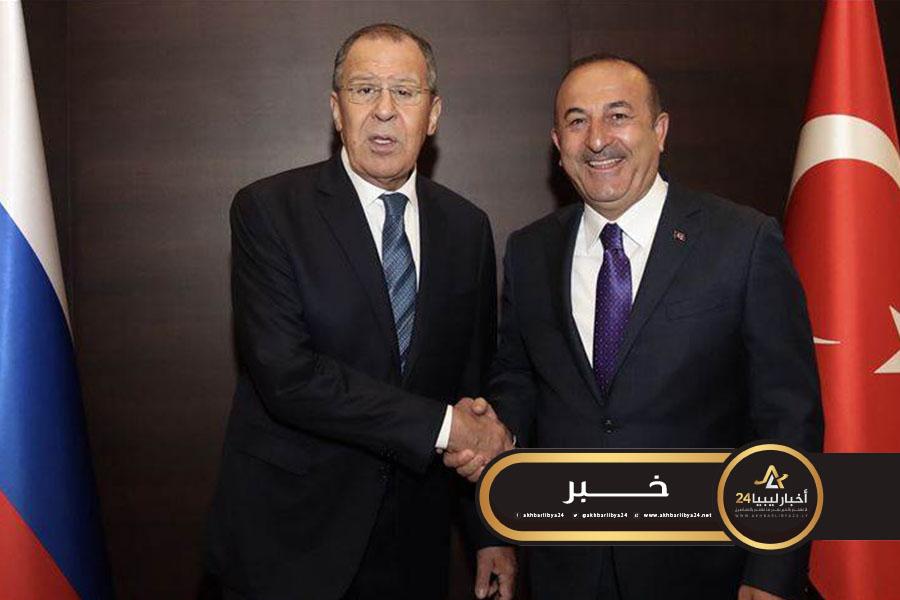 صورة وزير الخارجية التركي: نواصل المباحثات مع روسيا لضمان هدنة دائمة في ليبيا