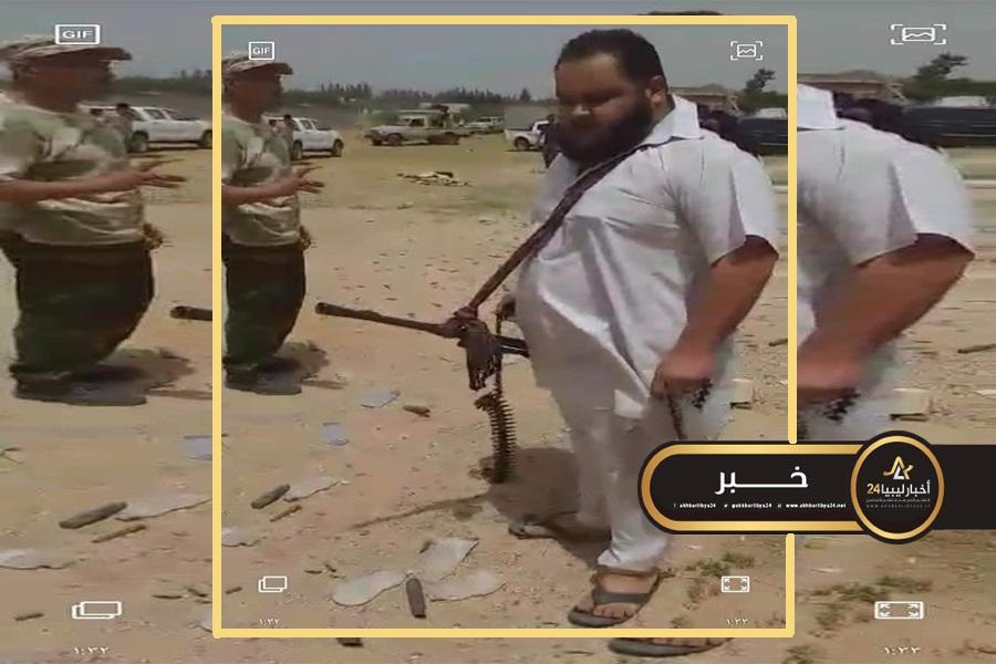 """صورة مقتل آمر مليشيا """"45 مشاة"""" مصراتة خلال المواجهات ضد القوات المسلحة غرب سرت"""