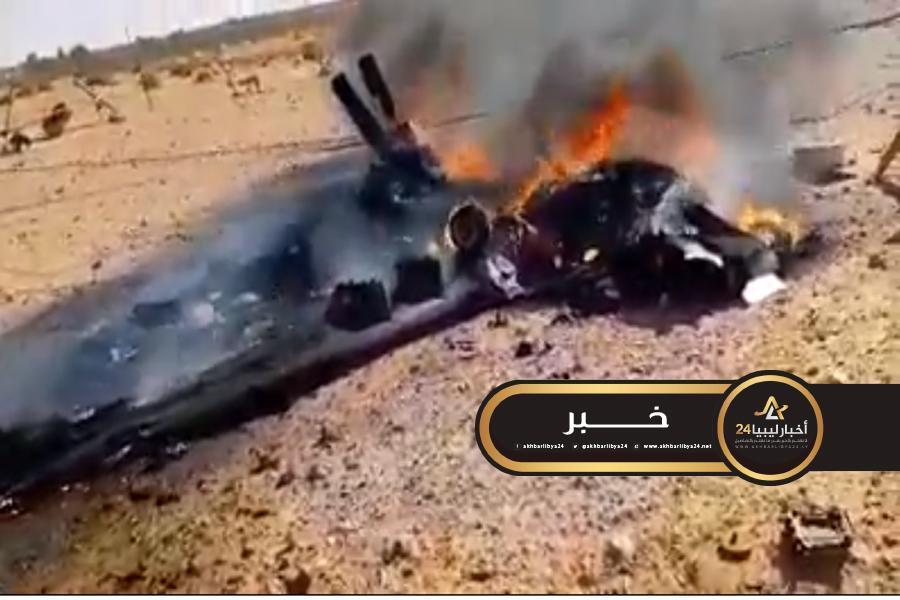 صورة خلال 24 ساعة..دفاعات القوات المسلحة تسقط مسيرتين تركيتين قرب سرت