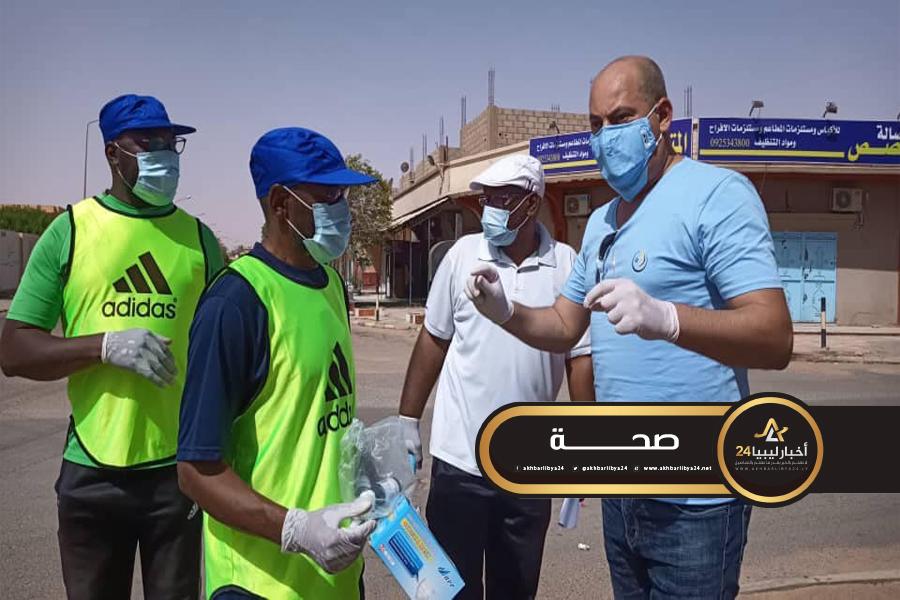 صورة الشباب والرياضة تسير معدات طبية لمدينة سبها