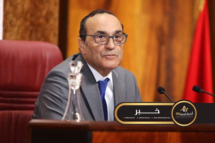 صورة رئيس البرلمان المغربي: ندعم جميع المبادرات الهادفة إلى استعادة الأمن والاستقرار بليبيا